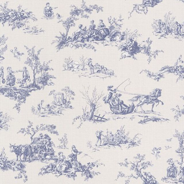 10 ideas about toile de jouy on pinterest toile french country chairs and french country fabric - Papier peint toile de jouy ...