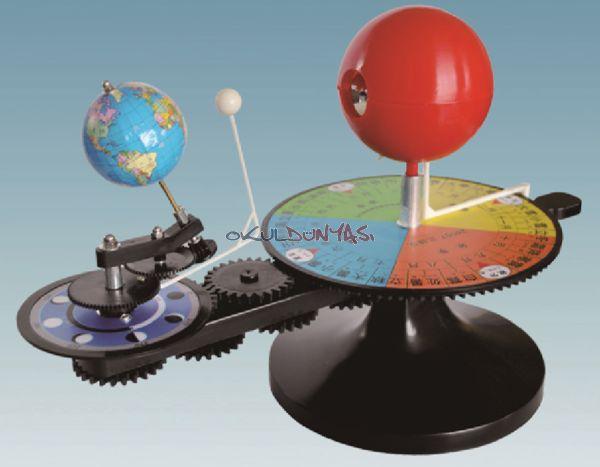 Güneş Dünya Ay Modeli - OF.0359 - Okuldunyasi - Fen Malzemeleri - Eğitim Araçları - Okul Malzemeleri