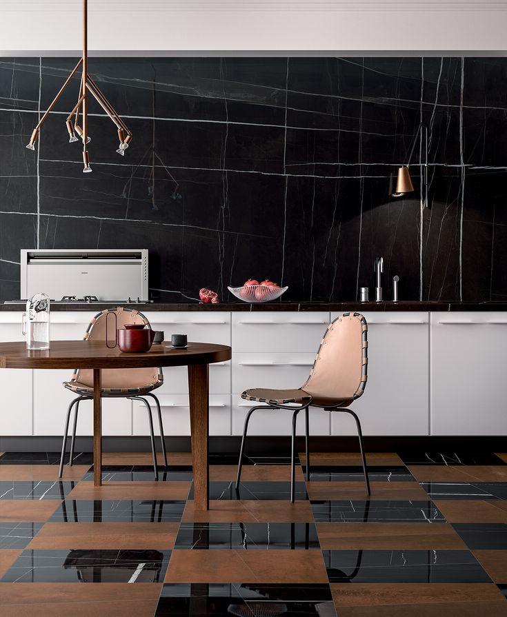 Kvist copper light by Jonas Bohlin for Örsjö found in this kitchen on the Fondovalle Ceramics website