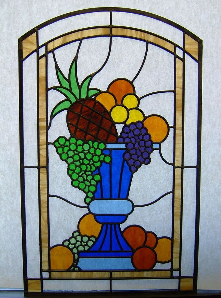 17 best images about food drinks stained glass on for Window design art