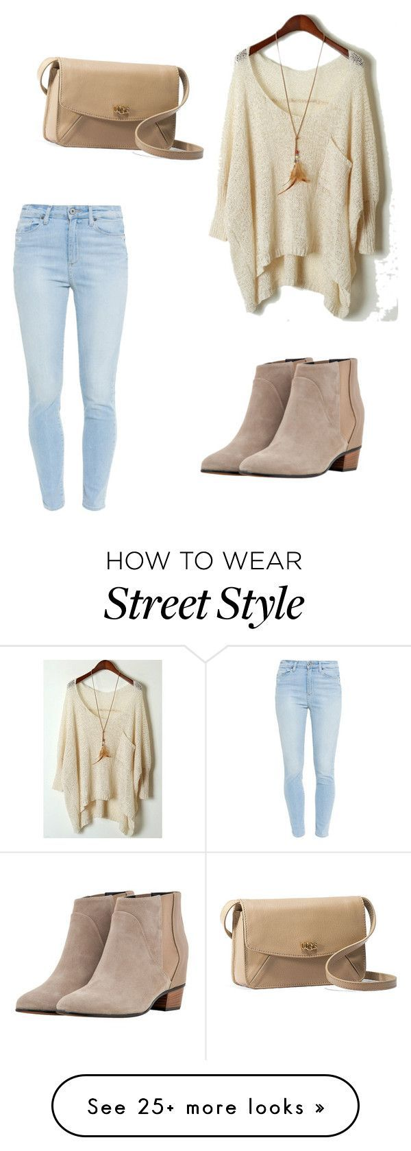 """Street style"" by ferszr-1 on Polyvore featuring Paige Denim, Augusta and UGG Australia"