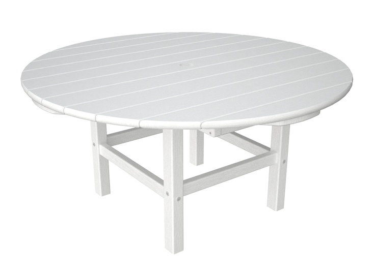 Plastic 38 In Round Outdoor Conversation Table W