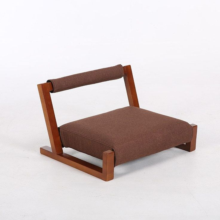 Wood Floor Japanese Zaisu Meditation Chair with Back ...