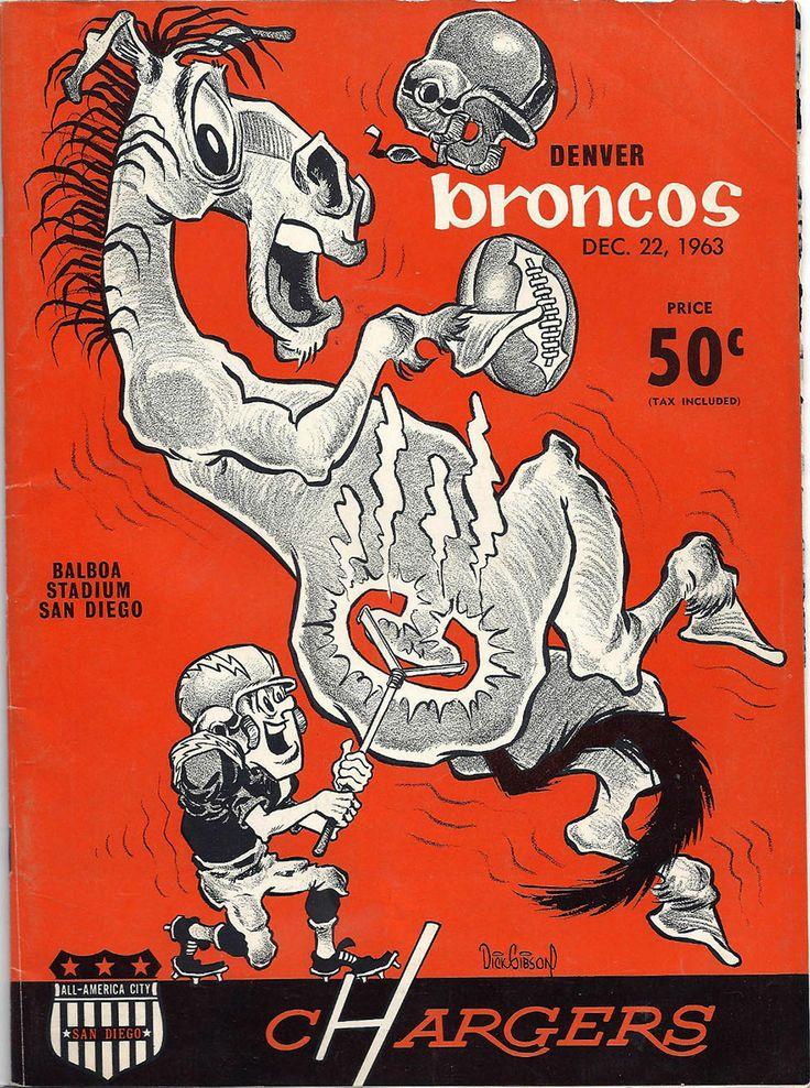 charger and bronco images | ... program (Denver Broncos at San Diego Chargers — December 22, 1963