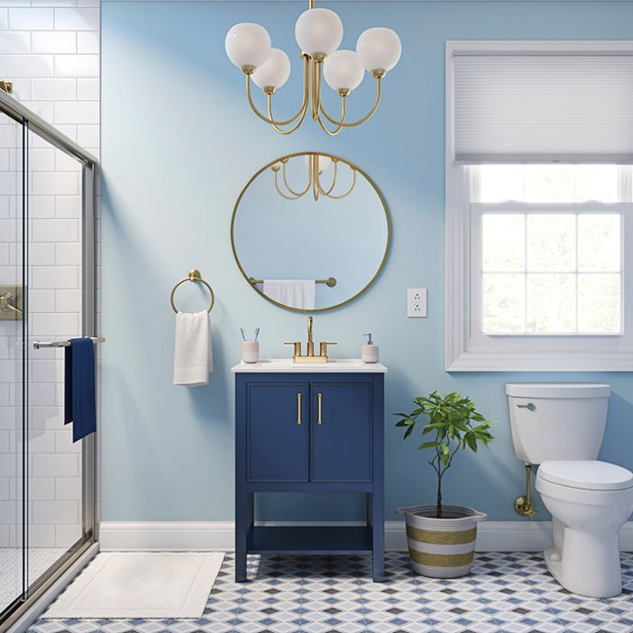 Bathroom Color Ideas in 2020   Single sink bathroom vanity ...