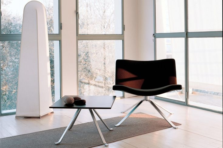 Wave, fully upholstered lounge chair with swivel function and memory return. Hospitality, Interior, Design.