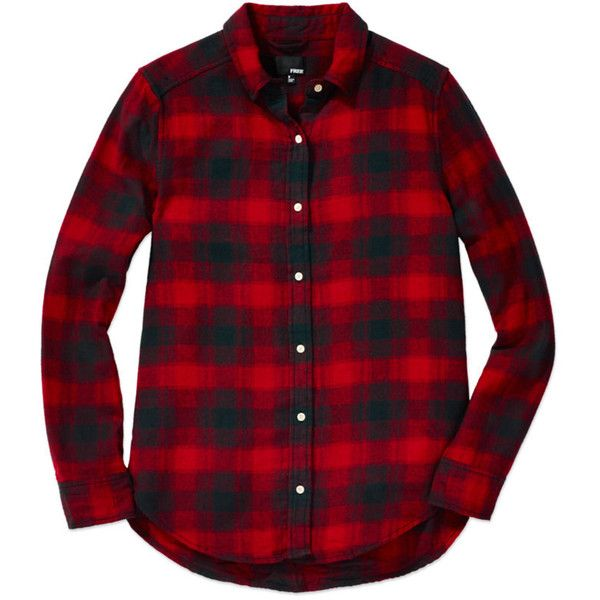 Wilfred Free FIA SHIRT Aritzia ($75) ❤ liked on Polyvore featuring tops, shirts, long sleeve shirts, flannel shirt, plaid shirts, red plaid shirt and tartan flannel shirt