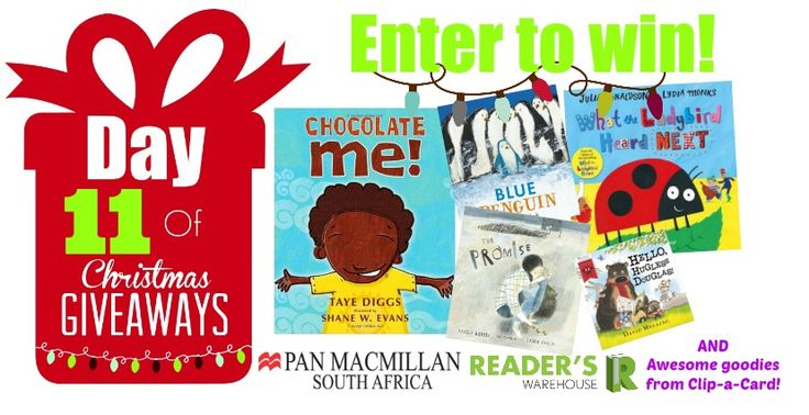 Day 11 Hamper from Pan Macmillan & Clip-a-Card is the perfect addition to any little reader's bookshelf and is sure to bring them endless hours of entertainment. Enter here: https://gleam.io/cKAhF/day-11-of-christmas-giveaways
