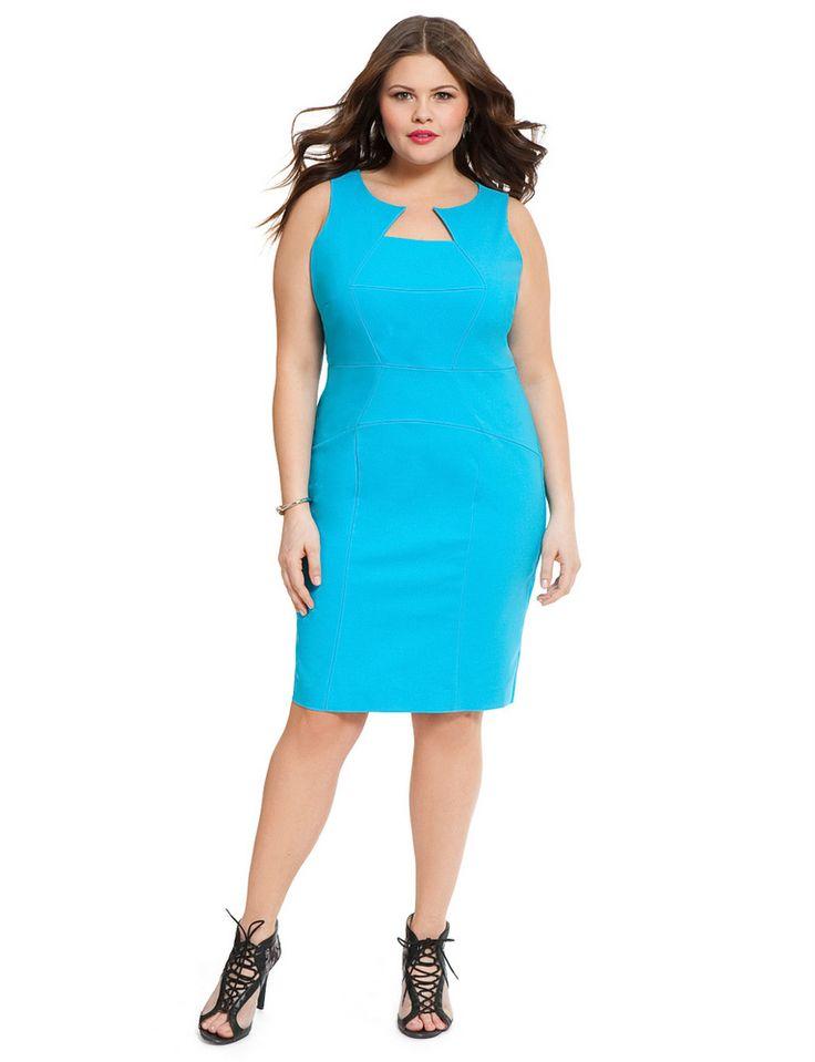 Eloquii Classic Seamed Sheath Plus Size Dress on The Curvy Fashionista