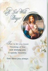Get Well Prayer Card.
