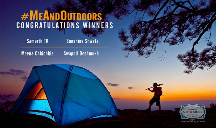 Winners of the #MeAndOutdoors Contest.