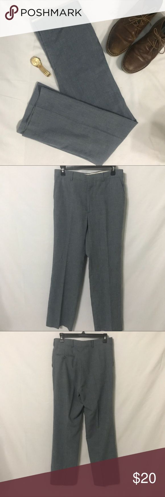 """Chambray Linen Blend Dress Pants Big & Tall, 31x42 Lightweight and comfortable light blue linen-cotton blend dress pants. The color resembles a light denim or chambray color. These pants are from a hard to find Repp Limited Big and Tall clothing line.  In lightly worn condition One back pocket  Measurements: Waist flat 15.5"""" Waist size 31"""" Inseam 31"""" Outseam 42"""" Rise 11"""" Repp Ltd. Pants Dress"""