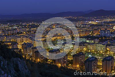 Aerial Night City View Of Brasov City - Download From Over 28 Million High Quality Stock Photos, Images, Vectors. Sign up for FREE today. Image: 46760562