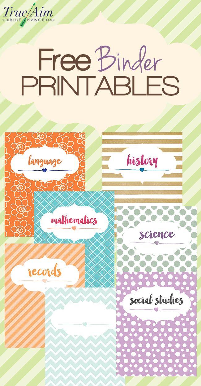 Homeschool organization tips, plus these cute, trendy free #binder printables