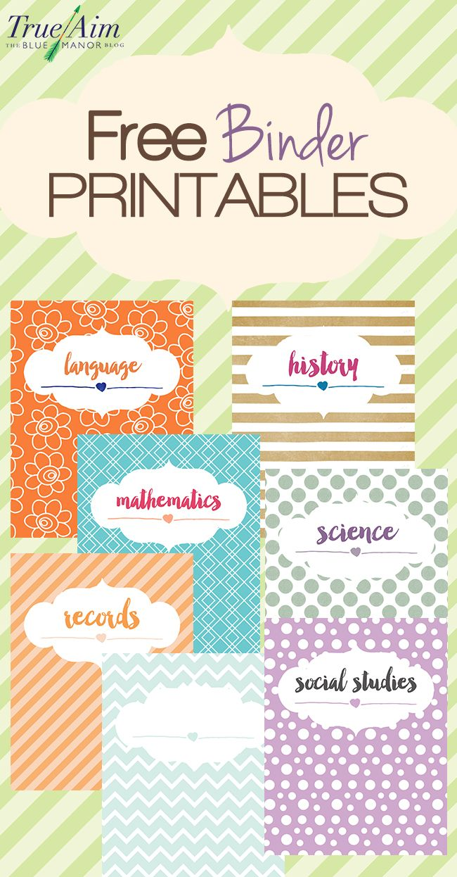 Homeschool organization tips, plus these cute, trendy free #binder printables