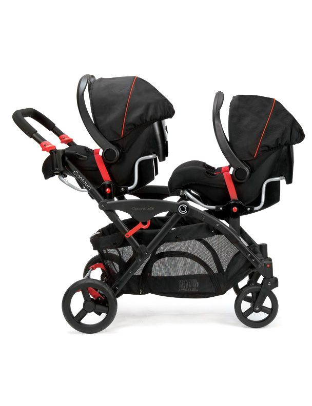The Contours Options Elite Tandem Stroller Can Accommodate