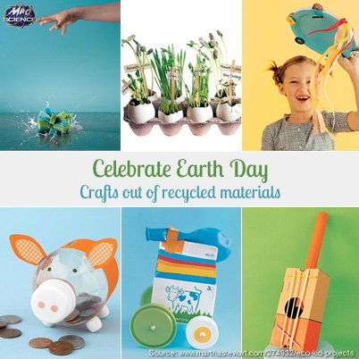 Celebrate Earth Day! | Crafts for kids with recycled materials
