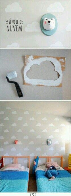 Schattig! wolkjes op plafond