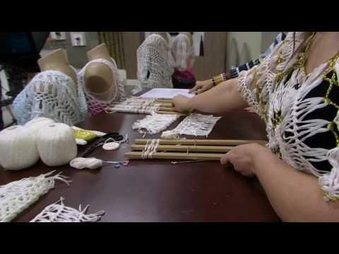Crochê de Grampo e Outras Técnicas com Helen Mareth : Crochê de Grampo Casaquinho Multiuso Programa Mulher.Com Aula na TV