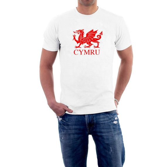 Cheer on the #Welsh #Rugby Team, or simply display your love for your country by wearing one of our wonderful 100% #Cotton T-shirts.  Cheer the roof off the Millennium Stadium... #tee #cotton #slim #fitted #british #uk #flag #dragon #wales #welsh #rugby #cymru ➡️ http://etsy.me/2kHWHjR