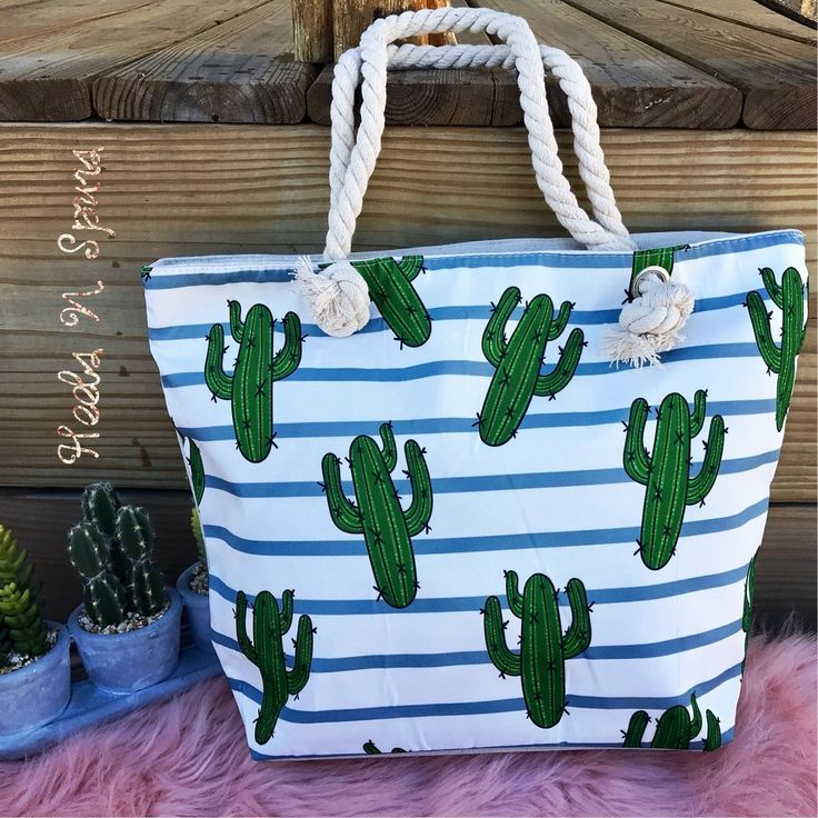 Arizona Cactus Tote !  My 2018 beach bag!!