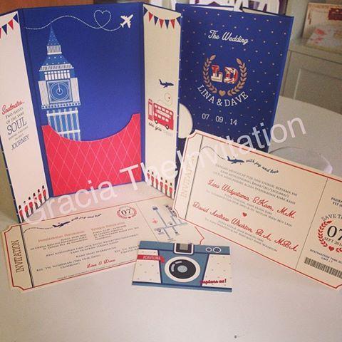 London theme Plane Ticket Invitation #couple #wedding #london #bigben #invitation #unique #design #plane #ticket #love
