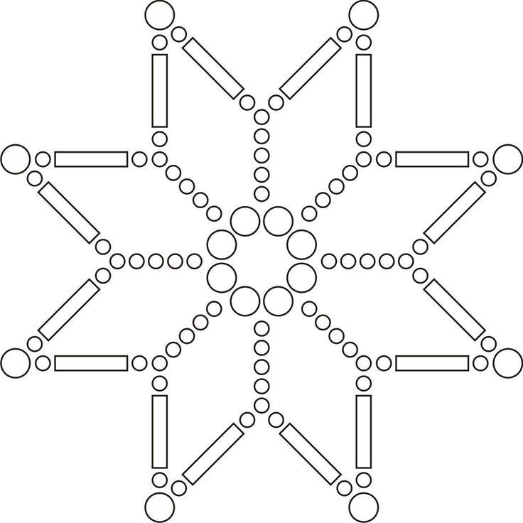 schéma vánoční hvězdy z korálků