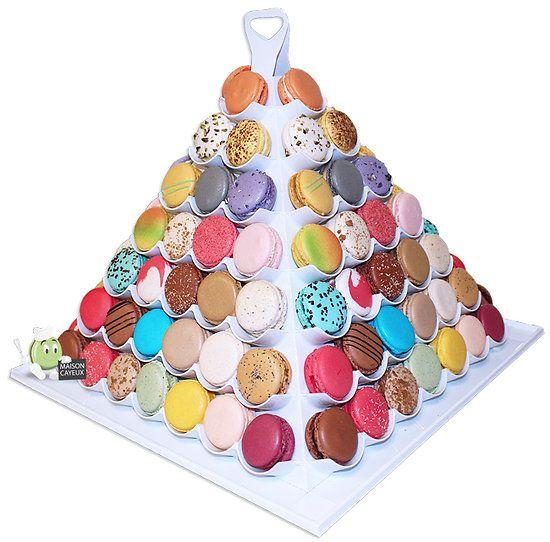 Pyramide de 24 à 112 macarons de Paris
