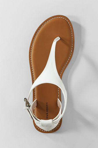 T-Strap Sandals from Lands' End - $53 total with shipping and taxes shoes sandals white