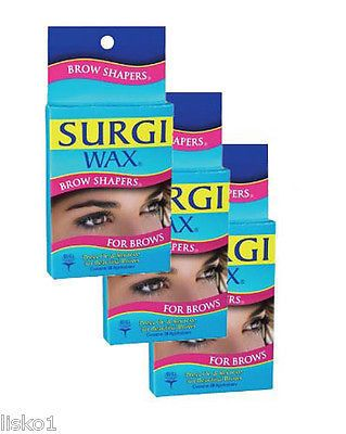 SURGI WAX BROW SHAPERS , FOR EYEBROWS, 28 APPLICATIONS 3- PACKS