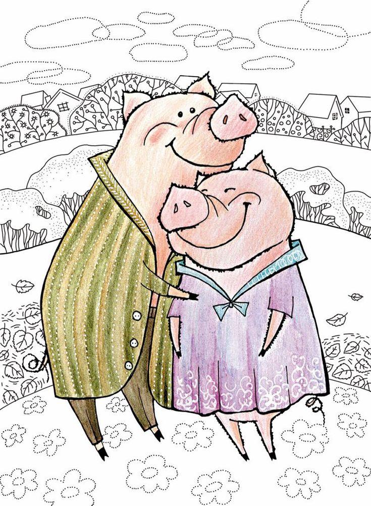 Картинки выбитых, рисунки свиньи прикольные