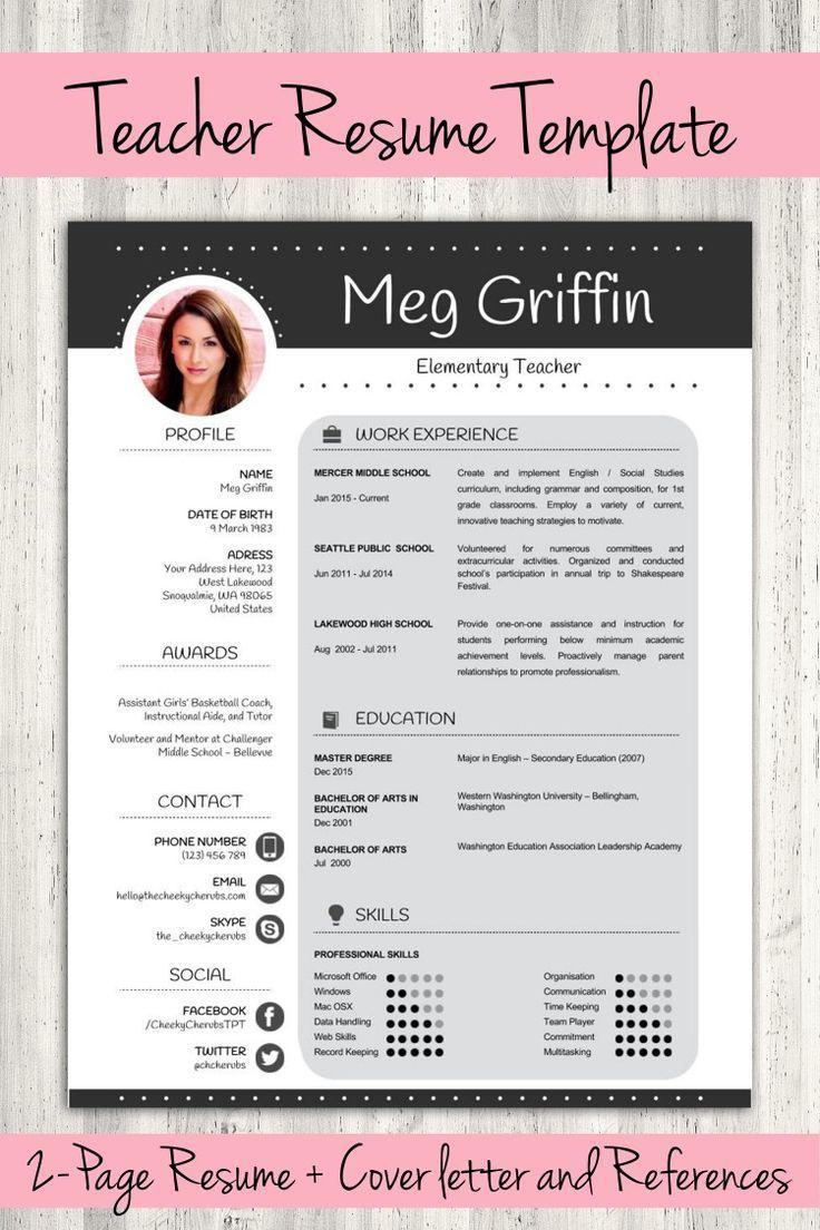 Free Professional Teacher Cv Template In Ms Word Cv Template Master Teacher Cv Template Teacher Resume Template Free Teacher Resume