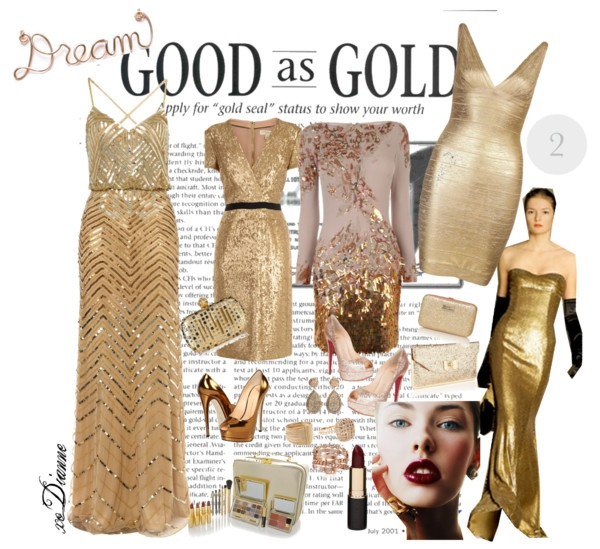 """01.13.13 - Good as Gold"" by dianne-lee on Polyvore"