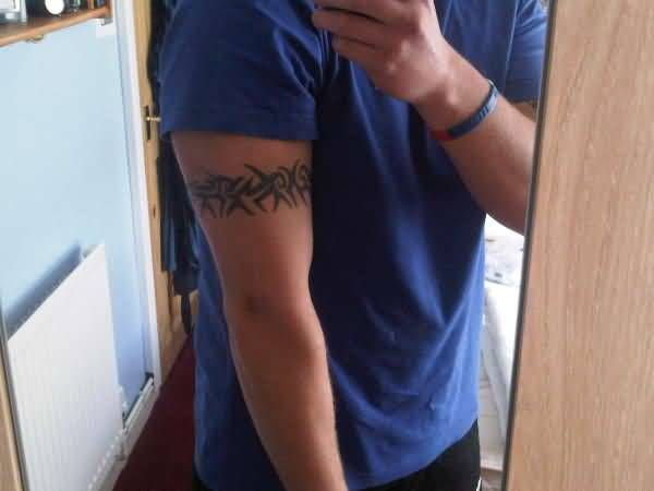 Armband Tattoo For Boy's Upper Arm