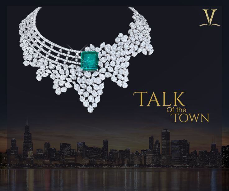 With an emerald necklace so fine and dazzling, you are sure to be the toast of the town. #TalkOfTheTown