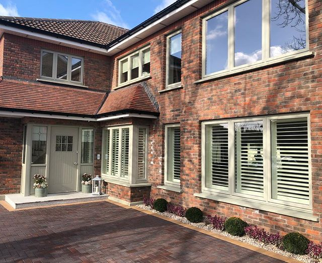 Check out this stunning house. Our shutters look amazing inside and out. Inside pictures to follow. #dublinshutters #shuttersireland #happycustomer #irishhomes #recent #redbrick #shutters