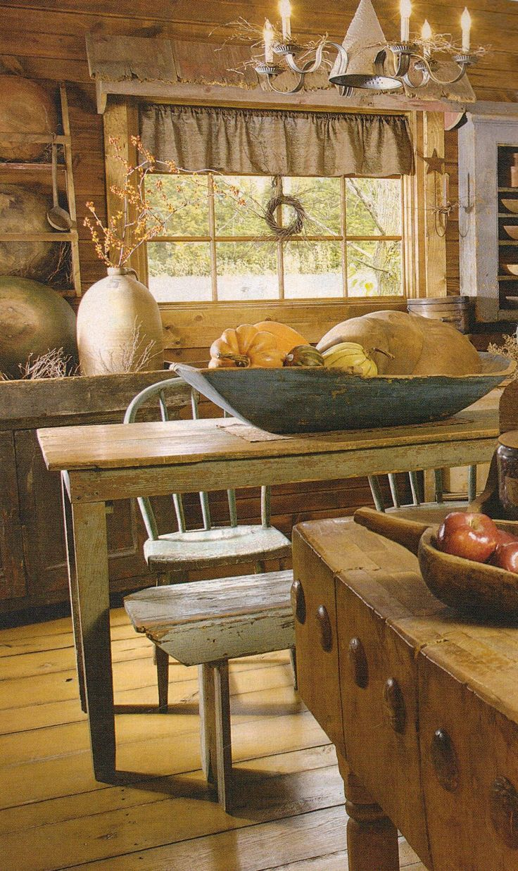 find this pin and more on cottage primitives primitive kitchen - Primitive Kitchen Decorating Ideas