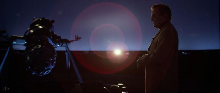 Dr. Fletcher (Monte Markham) pontificates in the planetarium