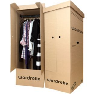 Set of 2 Cardboard Wardrobe Boxes - turn into dressing rooms or tower blocks?!