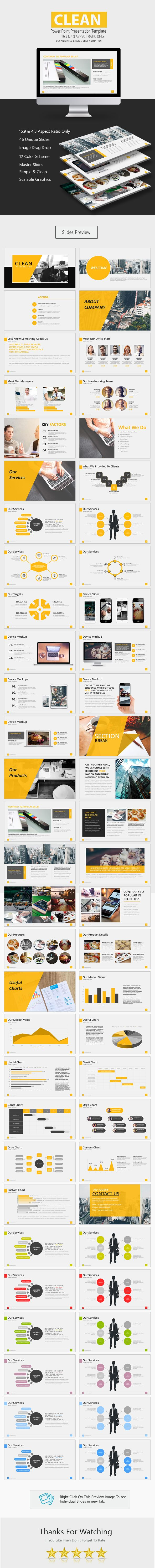 Clean Premium Power Point #Presentation - Business #PowerPoint Templates