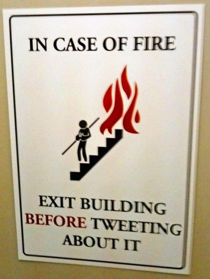 Social media warnings