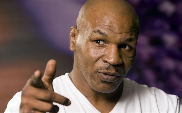 Hämta bilder Mike Tyson, porträtt, Amerikansk boxare, USA, tatueringar i ansiktet