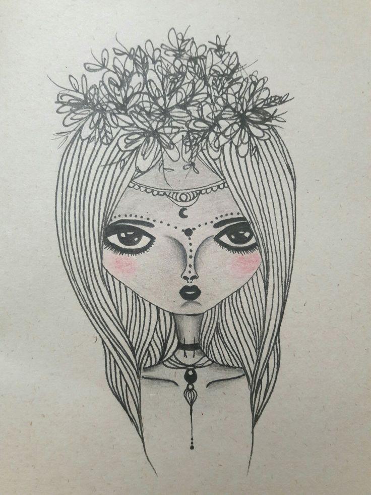 Ilustración (boceto) Rapidógrafo y lápiz