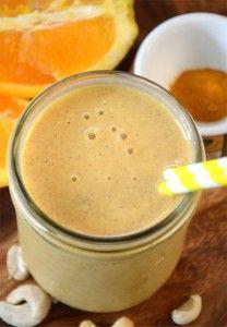Vegan Orange Mango Recovery Smoothie from runningonrealfood.com #healthysmoothies #veganrecipes
