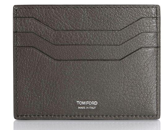 Tom Ford Slate Leather Card Holder