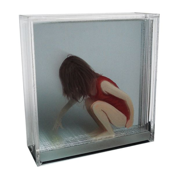 3d Holographic paintings on layers of glass.. fantastic, I need to try this!
