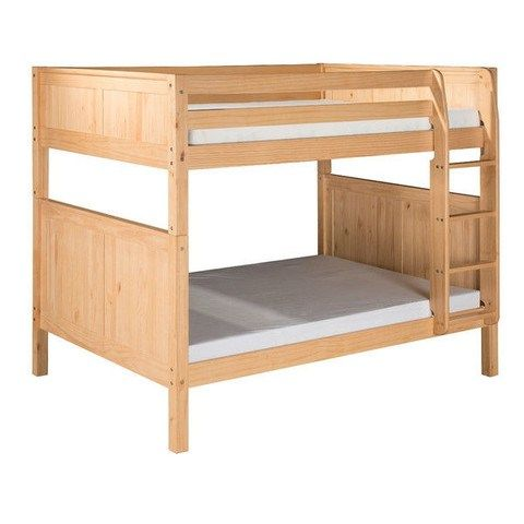 Wooden bunk bed .