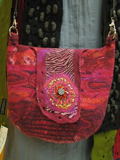 Gorgeous felted purse.  By www.andrea-graham.com