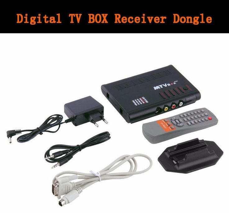 Portable Digital TV Program Receiver MTV HDTV HD LCD / Analog TV Tuner Box / CRT Monitor Digital Computer TV Box New Arrival #Affiliate