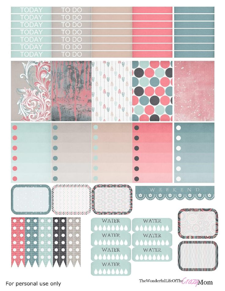 Free Printable Dreamin' Planner Stickers from The Wonderful Life of the Crazy Mom